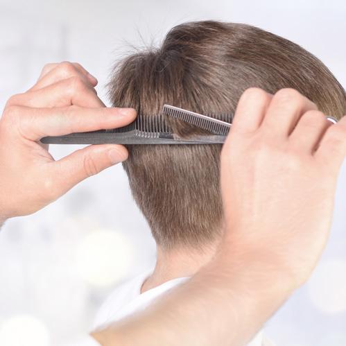 Corte y peinado de niño